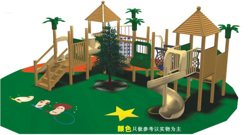 Wooden Backyard Equipment